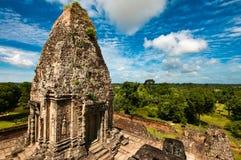 古老佛教高棉寺庙 免版税库存图片