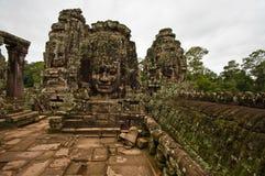 古老佛教高棉寺庙 免版税图库摄影