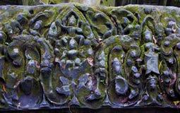 古老佛教高棉艺术在吴哥窟 免版税库存照片