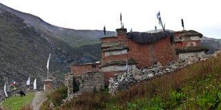 古老佛教gompa shey stupa 库存照片