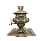 古老俄国俄国式茶炊 图库摄影