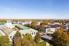 古老俄国城市罗斯托夫全景伟大 免版税库存图片