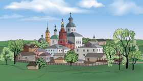 古老俄国城市苏兹达尔 免版税库存照片