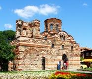 古老保加利亚基督基督教会pantocrator墙壁 图库摄影