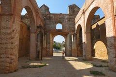 古老修道院在墨西哥 库存图片