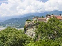 古老修道院希腊人飞星 免版税库存照片