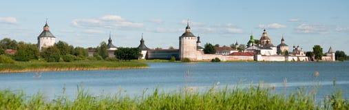 古老修道院的看法 免版税图库摄影