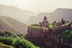 古老修道院 Tatev 的臂章 免版税库存图片