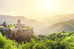 古老修道院 Tatev 的臂章 免版税库存照片