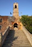 古老修道院Moni在克利特海岛,希腊上的Agia Triada 免版税库存图片