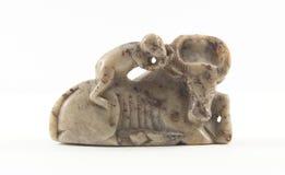 古老做的雕塑石头 免版税库存图片