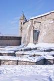 古老克里姆林宫在市普斯克夫 免版税库存图片