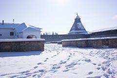 古老克里姆林宫在市普斯克夫 库存照片