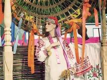 古老全国礼服和一个帽子在钝汉 免版税图库摄影