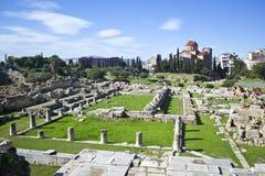 古老公墓在雅典Kerameikos希腊 库存图片