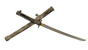 古老剑和鞘 免版税库存照片