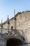 古老剧院在庞贝城,意大利,欧洲 免版税库存照片