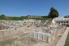 古老剧院在拉里萨Grece 库存图片