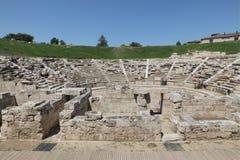 古老剧院在拉里萨Grece 库存照片