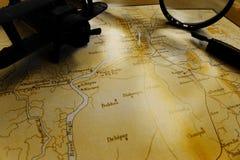 古老加尔各答印度地图黑暗口气 免版税库存照片