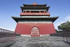 古老北京鼓塔 免版税库存图片