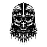 古老北欧海盗头例证 库存图片