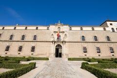 古老医院Tavera门面在托莱多 免版税库存图片