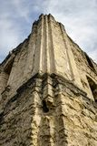 古老半被破坏的犹太教堂 Rashkov,摩尔多瓦 免版税库存照片