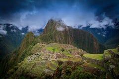 古老印加人丢失市Machu Picchu,秘鲁 图库摄影