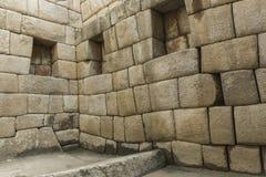 古老印加人市的看法马丘比丘 第15个世纪 库存照片