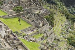 古老印加人市的看法马丘比丘 第15个世纪 图库摄影