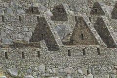 古老印加人市的看法马丘比丘 第15个世纪 免版税库存照片