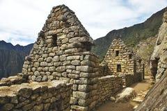古老印加人市马丘比丘,秘鲁的看法 免版税库存照片