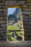 古老印加人machupicchu废墟 库存照片