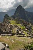 古老印加人machupicchu废墟 免版税库存图片