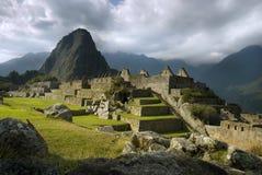 古老印加人machupicchu废墟 免版税库存照片