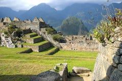 古老印加人machupicchu废墟 免版税图库摄影
