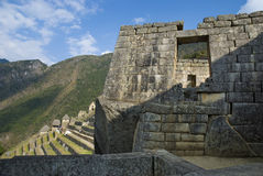古老印加人machupicchu废墟 库存图片