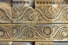 古老印地安浅浮雕 库存照片