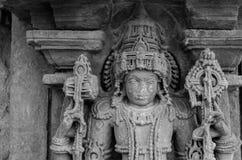 古老印地安雕塑从12世纪 免版税图库摄影