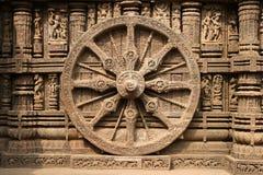 古老印度印度konark寺庙 免版税库存图片