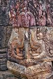 古老印度神石头柬埔寨艺术  古老Khme 图库摄影