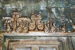 古老印度神石头柬埔寨艺术  古老Khme 库存照片