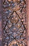 古老印度神石头柬埔寨艺术  古老Khme 免版税库存照片
