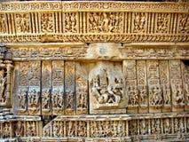 古老印度雕塑 免版税库存照片