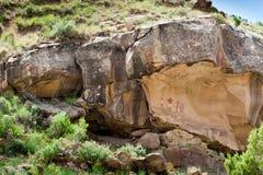 古老印第安象形文字 库存图片