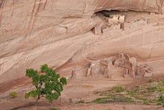 古老印第安那瓦伙族人村庄 免版税库存照片