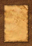古老卷模板 免版税图库摄影