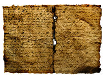古老原稿 免版税库存照片
