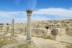 古老古色古香的寺庙专栏废墟 库存图片
